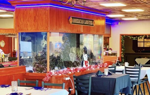 """Large Custom """"See-Through"""" Restaurant Aquarium"""